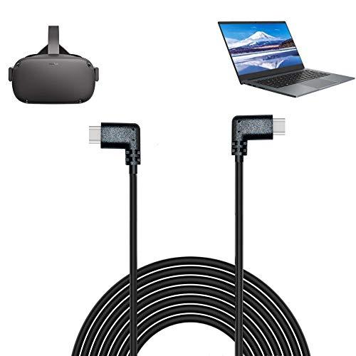 Eyglo USB 3.0 Typ-C Ladekabel Super Speed Datenübertragungskabel für Oculus Quest Link VR Schnellladekabel für Handy Tablet Oculus Link Headset-Kabel (3 m) (3 m Doppelwinkel)