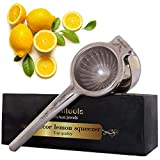 Qualitools Premium Lemon Squeezer - Decorative Stainless Steel 304 Manual Citrus Juicer - Sturdy, Durable & Rust Free - Dishwasher Safe