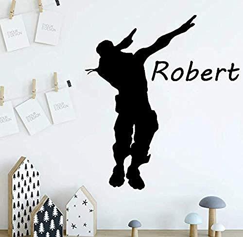 Pegatinas de pared calcomanías de vinilo Battle Royale game player pegatinas niños habitación decoración pegatinas juego 64 * 57C m