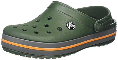 crocs Unisex-Erwachsene Crocband U Clogs, Green (Forest Green/Slate Grey), 36/37 EU