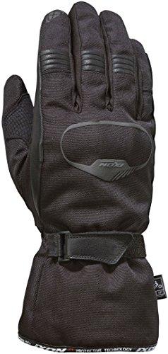 Ixon Pro Rush - Guantes de piel para motocicleta, color negro