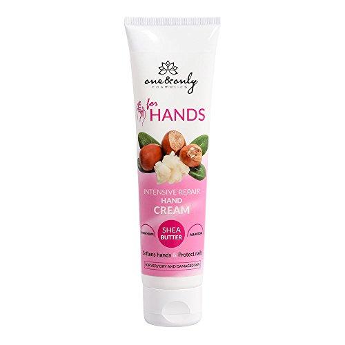 ONE&ONLY for Hands Repair Hand Cream, ONE&ONLY Crema mani e unghie 100 ml, idratante, lenitiva e rigenerante per le mani con burro di karitè e urea per pelli molto secche e danneggiate