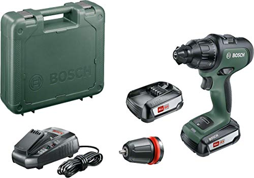 Bosch 06039B5171 Cordless Drill AdvancedImpact 18 (2 Batteries, 18 V System, in Carrying Case)