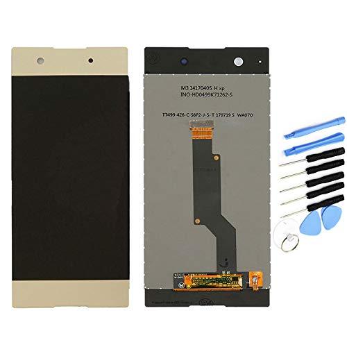 YQZ pour Sony Xperia XA1 G3116 G3121 G3112 Remplacement de Vitre Tactile Ecran LCD Assemblé (sans Châssis) (Or)