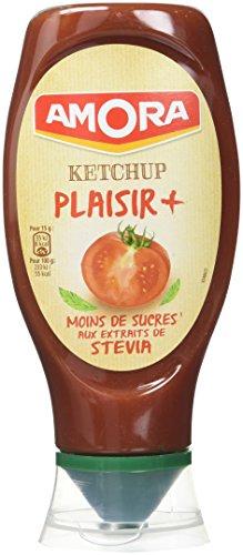 Amora Ketchup Plaisir+ Stevia 465g - Lot de 6