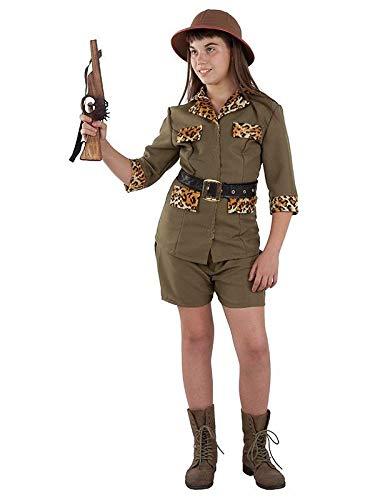 DISBACANAL Disfraz Exploradora Safari niña - -, 12 años