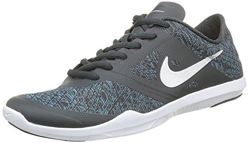 Nike Damen W Studio Trainer 2 Print Turnschuhe, Rot, 16 EU, Grau (Anthracite/Metallic Silver Gamma Blue WhiteAnthracite/Metallic Silver Gamma Blue White), 38 EU