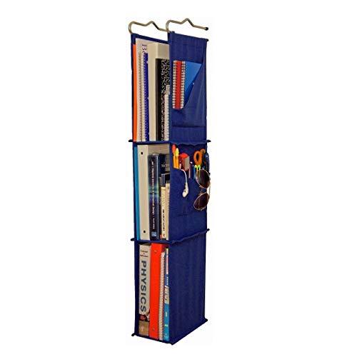 """Hanging Locker Ladder Organizer For School, Work, Gym Storage   3 Shelves   38"""" x 5.5"""" x 9"""" (Blue)"""