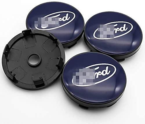 4 Piezas Tapacubos, para Ford- Mustang Kuga Fusion F-1, Impermeable Antióxido Decoración Accesorios Tapas Centro Rueda, Modificadas Hub Caps con Emblema, 60mm