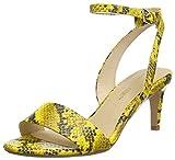 Clarks Amali Jewel, Zapatos con Tacon y Correa de Tobillo para Mujer, Amarillo (Yellow Snake Yellow Snake), 39 EU