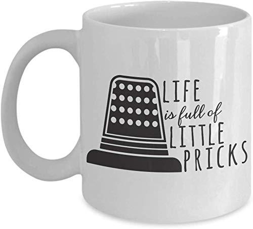 Leona Chesterton Leonat Fingerhut-Becher-Liebhaber mögen lustige Geschenkidee für Hobby-Süchtig-Neuheits-Wortspiel-Kaffee-Tee-Schale Lustiges Fingerhut-Geschenk für Fingerhut-Geschenk
