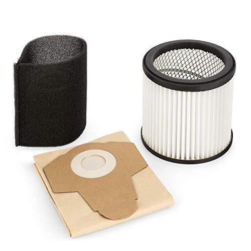 Waldbeck Lakeside Power Juego de filtrado para Aspirador - Accesorio/Recambio, Juego de 3 Piezas: Filtro del Motor HEPA, Bolsa de Filtro de Papel y Filtro de Esponja