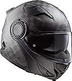 LS2 NC Casco per Moto, Hombre, Negro, M