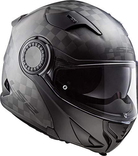LS2 Casco de moto FF313 VORTEX MATT CARBON, negro, L