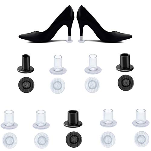 HBselect 9 Pares Talón Protector Tapas Talla S M L Protectores Tacones Transparentes Negro Protectores para Zapatos Tacon Mujer
