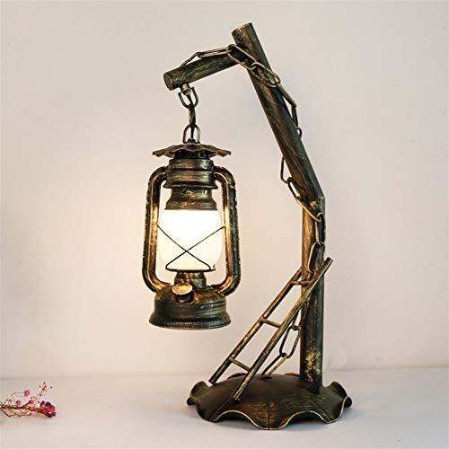 Tischlampe Nachtlampe Lüster Wandleuchte Boden Retro dekorative Tischlampe kreative Wohnzimmer Schlafzimmer Eisen Tischlampe Jahrgang Petroleumlampe Klassische Horse Lamp Study Schreibtischlampe