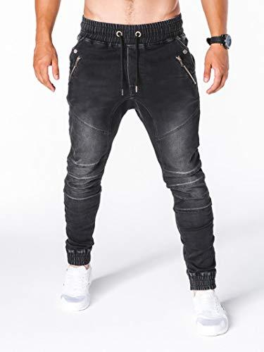 Jeans Pantalon Jeans Jogginghose Herrenmode Military Cargo Pants Mehrfache Taschen Baggy Men Pants Freizeithose Overalls Hose Jogger L Schwarz