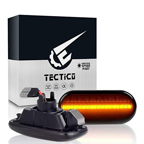 TECTICO LED Dynamischer Blinker Seitenblinker Ultra Heller E-Prüfzeichen Fehlerfrei Blinkleuchten für A3 S3 8P A4 S4 RS4 B6 B7 B8 A6 S6 RS6 C5 C7, 2 Lampen