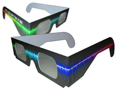 Rob's Super Happy Fun Store Fireworks Diffraction Grating Glasses - 20 Pair - Rave Waves Prism Glasses - See Rainbow Bursts of Color at Festivals, EDM Events, and Parties