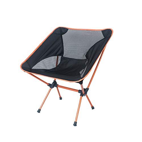 LQ-zhedieyi tuinstoel maanstoel, draagbare stoel om te vissen, camping, strand spelen, schetsen, vouwen, reizen, oranje, 56 x 67 cm