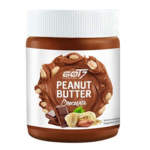 GOT7 Erdnussbutter Schokolade / 100% Peanut Butter 500 g - Ohne Zuckerzusatz - Glutenfrei und Palmfettfrei - Kein Zuckerzusatz - Vegan und lecker, weiche Konsistenz