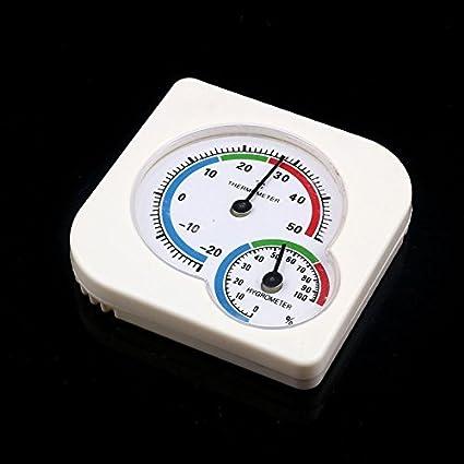 Riou Igrometro Termoigrometro da Interno Rotonda di umidit/à Metro Mini Termometro Ambiente Digitale Utilizzato per La Misurazione della Temperatura per Cucina,Cameretta