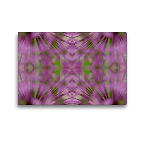 CALVENDO Premium Textil-Leinwand 45 x 30 cm Quer-Format Fokus in lila, Leinwanddruck von Brigitte Deus-Neumann