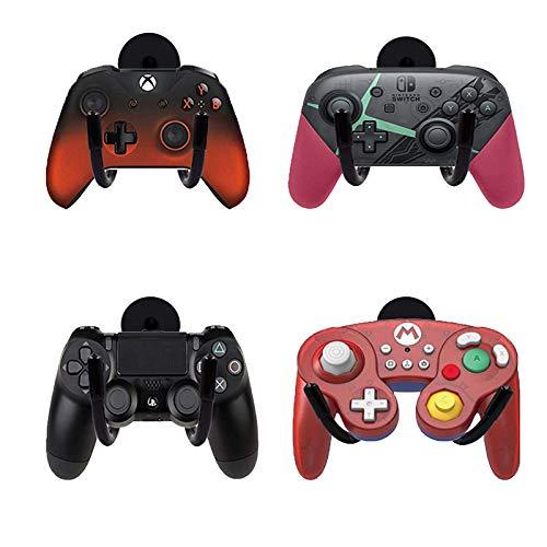 Soporte magnético para mando de juegos (4 unidades) para Xbox One PS4 Switch Pro Game Controller – No necesita taladrar – No necesita herramientas de instalación – (sin controlador de juego)