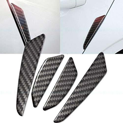 Xotic Tech Real Carbon Fiber Exterior Door Edge Guards Bumper Protector Trim Guard Sticker Molding for Car SUV Pickup Truck