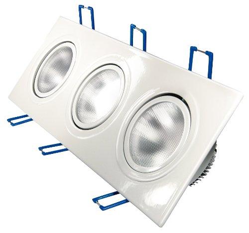 Transmedia LPE8L Projecteur LED Encastré 230 V 3 x 4,5 W Blanc Chaud
