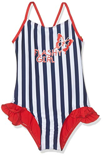 Haute pression J9008 Costume da Bagno, Blu (Rayure Marin 001), 8 Anni Bambina