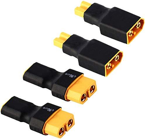 2Paar Adapter XT30 auf XT60 Male Female Stecker Buchse Männlich Weiblich Adapterkabel Plug für Lipo Akku Batterie