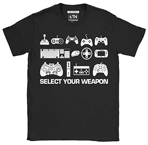 6TN Hombre Seleccione su Camiseta Divertida del Juego del Arma