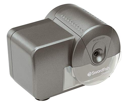 Swordfish 'Sketch' Electric Pencil Sharpener with Replaceable Helical Blade and Auto Stop Function [40050]