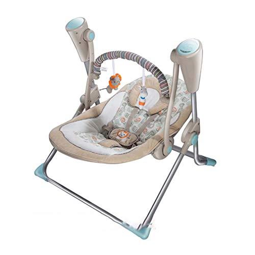 ZWQ kids Chaise à Bascule Swing électrique, Berceau du Sommeil du Nouveau-né, Chaise de lit inclinable Multifonctionnel avec moustiquaire,B