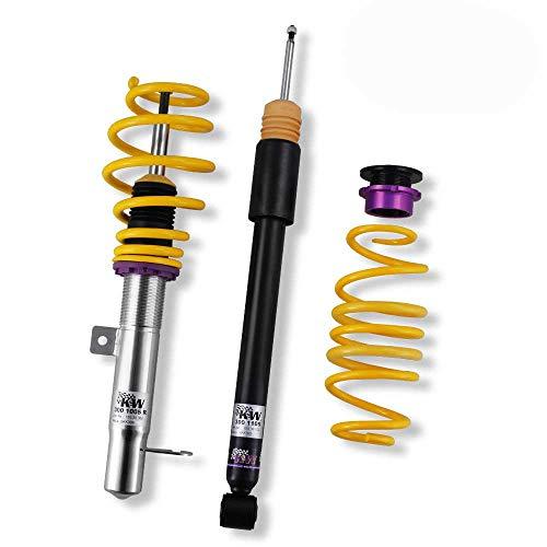KW pour essieux avant inox variante 1 pour sEAT altea et altea xL (5P) traction avant 2WD jambe modèles : ø 50 mm/06/04–puissance en kW : 63–147/abaisser en mm (vA/hA) : 20–45/30–60/max. admissible sur l'essieu (en kg vA/hA) : 1101–1160/-1030