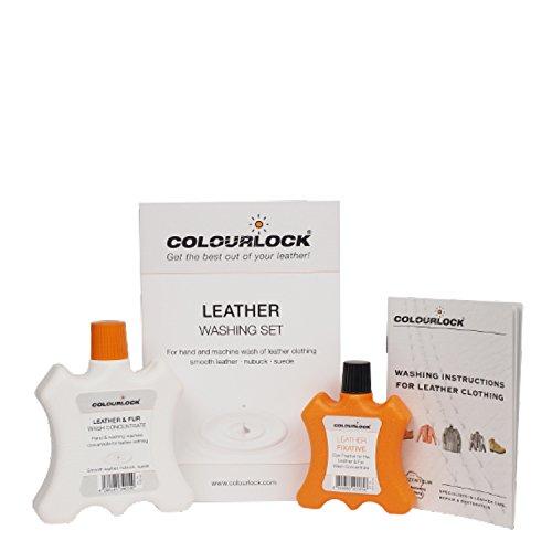 COLOURLOCK Kit Lavado Ropa Cuero/Piel, Leder-Fein Lava la Ropa de Cuero/Piel a Mano y en Lavadora Chaquetas de Moto, Trajes, Cazadoras, Guantes