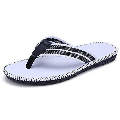 Zapatillas De Verano De Mujer, para Hombre, Cómodo, Zapadas De Pie, De Techo Suave De Tela Suave, Sandalias De Playa De Vacaciones De Verano(Size:44,Color:B)