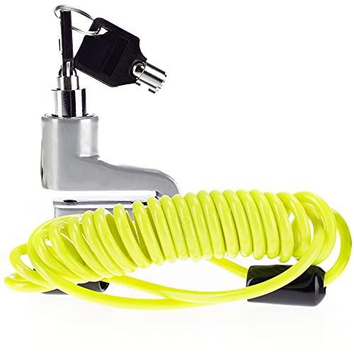 com-four® Bloqueo de Disco de Freno - Protección antirrobo para Motos - Bloqueo de Disco de Freno para Scooters - Bloqueo de Disco de Freno para Motos