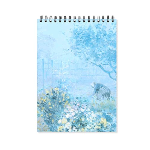 ZAZA Cuaderno Diario Cuaderno En Blanco Libro De Boceto Grande Personalidad Doodle Libro De Pintura Libro Portátil Regalo Portátil (Azul) Cuadernos para Mujeres (Color : A4)