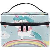 Bolsa de cosméticos de viaje Unciorn Ice Cream Birthday Toiletry Bolsa de maquillaje Bolsa Tote Case Organizador Almacenamiento para mujeres Niñas