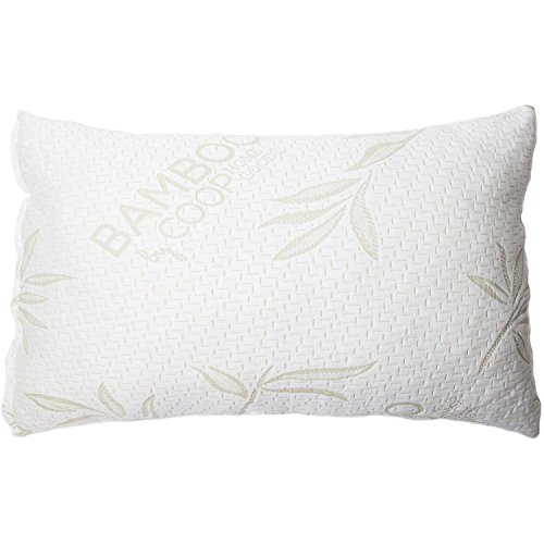 Coop Home Goods - Shredded Memory Foam Pillow with Non-Removable Cover Made from Bamboo Derived...