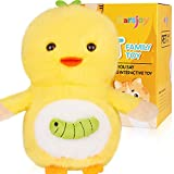 Yellow Duck Robot Plush Stuffed Animal Interactive , Talking Pet Toy Repeat What You Say Electronic Pet, Dancing and Shaking Robotic Recording Toy, Animated Toy Pet for Girls Boys Baby Kids H: 6.3'