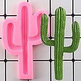 CSCZL Molde de Silicona con Borde de Cactus DIY Cupcake Topper Fondant Moldes Herramientas de decoración de Pasteles de cumpleaños Moldes de Pasta de Goma de Chocolate y Caramelo