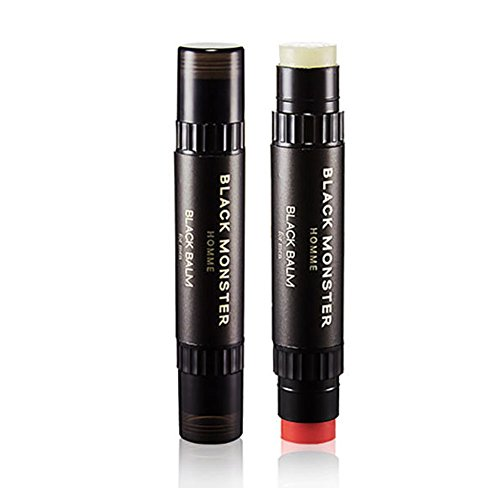 ブラックモンスターオムブラックバムリップバム4.8g、チェリーの香りケモマイルの香りメンズコスメ、Black Monster Homme Black Balm Lip Balm 4.8g Cherry Scent Chamomile Scent Men'Cosmetics [並行輸入品]