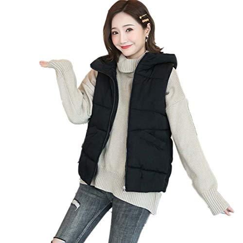 Yuyudou Warm Gewatteerde Gilet voor Vrouwen, Mouwloze Jassen Vest, Bodywarmer Down Coat met Rits En Pocket