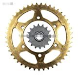 Ting Ting TTRS Store 525 Cadena Frontal Amply Sprocket Trasero 16 y 45 Dientes Fit para Yamaha Road YZF R6 YZF-R6 13S 1JS 2CX 2006 2007 2008 2009 2010 2010 2011-2018 (Color : 1 Set Chian Sprocket)