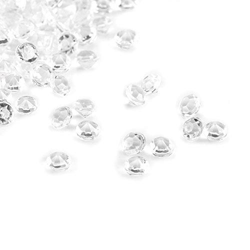 1000 Perles de Diamant Acrylique 3mm pour Porte-Bursh, Vase Filler, pour Table Centre de Table, Mariage, Douche Nuptiale, Vase Perles Décorations(Transparent)
