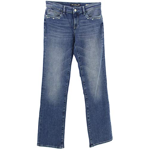 Mavi, Mona, Damen Jeans Hose, Stretchdenim, mid Used Pearl Blue, W 28 L 30 [21929]