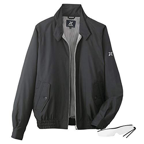 8ポケット撥水加工ブルゾンLX50100 しおり型ルーペ付 (L, ブラック)